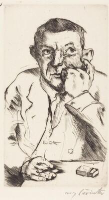 Portrait of a Man Smoking (Männliches Bildnis mit Aufgestütztem Arm)
