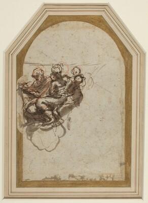 Saint Matthew and Saint Jerome [verso]