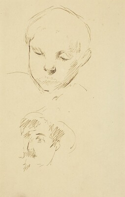 Profile of a Boy and Self-Portrait [recto]