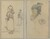 A Breton Woman and a Standing Man; Head and Hand of a Monkey [recto]