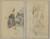 Two Breton Women; Landscape [recto]