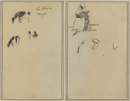 Two Cows; A Seated Breton Woman [verso]