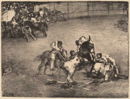 Picador Caught by a Bull