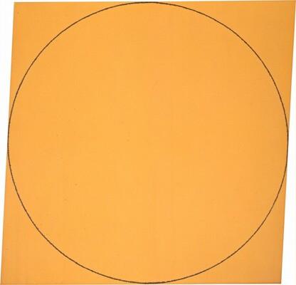 Orange Distorted Square-Circle
