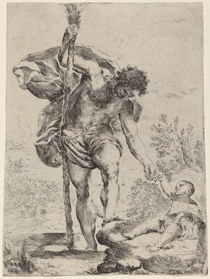 Saint Christopher Giving His Hand to the Infant Jesus