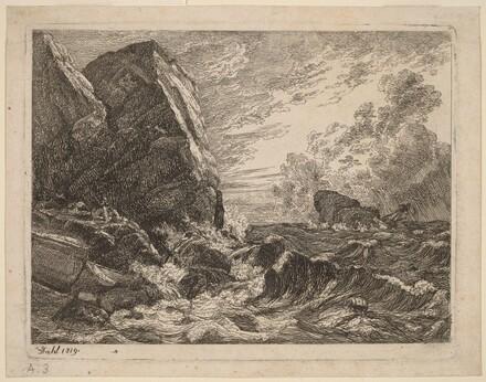 Norwegian Coast During a Storm