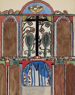 Plate 5: Main Altarpiece, Santa Cruz: From Portfolio Spanish Colonial Designs of New Mexico