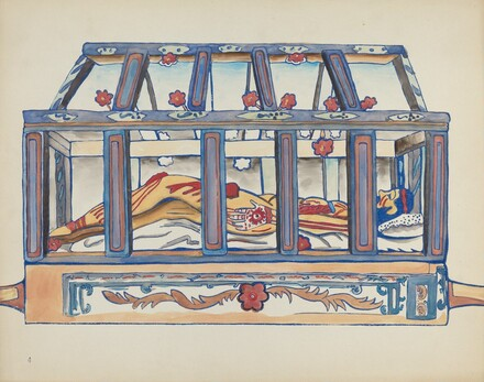 Plate 4: Christ in the Sepulchre: From Portfolio Spanish Colonial Designs of New Mexico