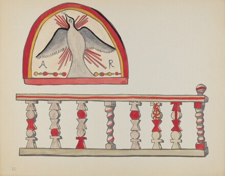 Plate 10: Holy Ghost Lunette & Altar Rail, Chimayo: From Portfolio Spanish Colonial Designs of New Mexico