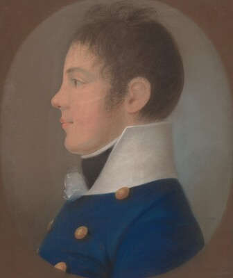 Portrait of a Young Man in Profile