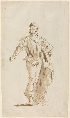 Standing Man in Sixteenth-Century Costume