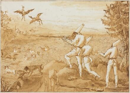 Punchinellos Hunting Waterfowl