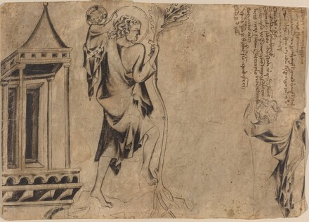 An Aedicule with Two Studies of Saint Christopher