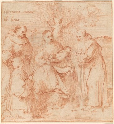 The Madonna and Child with Saints Francis and Anthony Abbot and a Donor