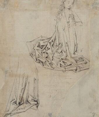 Female Figure Kneeling in Prayer [verso]