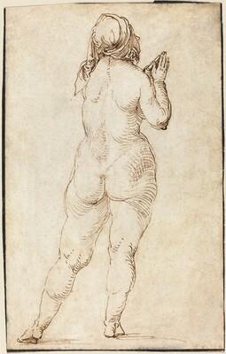Female Nude Praying