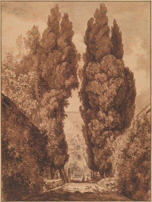 The Avenue of Cypresses at Villa d'Este
