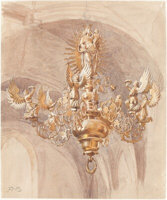 A Chandelier with the Virgin Mary Holding the Christ Child