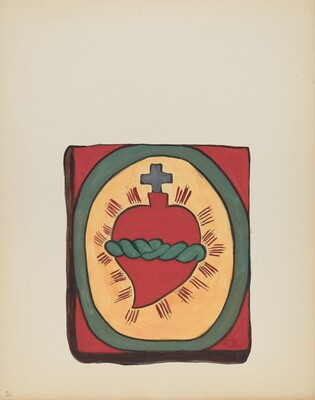 Plate 50: Sacred Heart: From Portfolio Spanish Colonial Designs of New Mexico