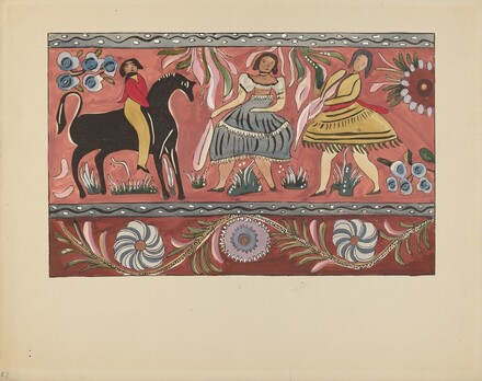 Plate 42: Painted Chest Design: From Portfolio Spanish Colonial Designs of New Mexico
