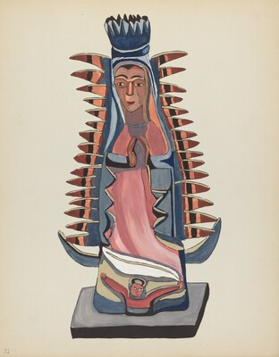 Plate 31: Our Lady of Guadalupe: From Portfolio Spanish Colonial Designs of New Mexico