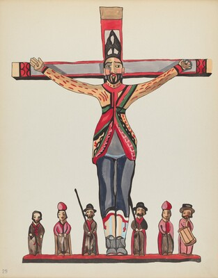 Plate 29: Saint Acacius: From Portfolio Spanish Colonial Designs of New Mexico