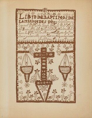 Plate 2: Jemez Book of Baptisms: From Portfolio Spanish Colonial Designs of New Mexico