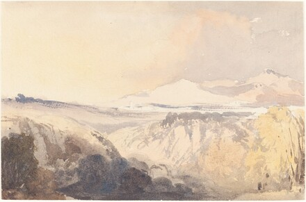 Landscape with a Distant Mountain Range