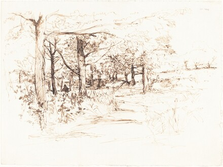 Landscape with a Tree-Lined Lane