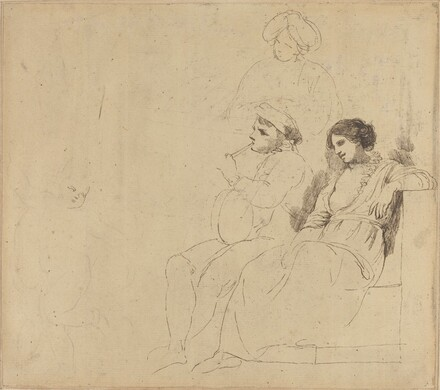 Study for The Rustic Dancers