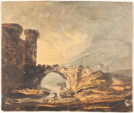 Landscape with a Castle and Bridge