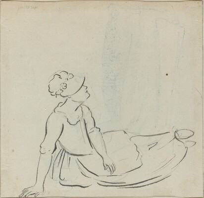 Girl with a Bonnet Reclining [verso]