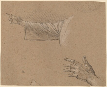 Study of a Right Arm and a Left Hand