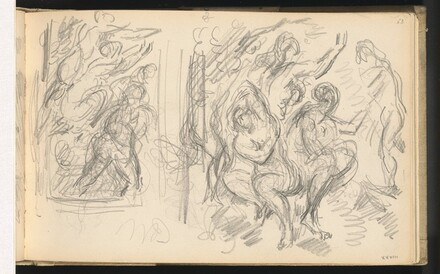 Two Studies for The Judgement of Paris or The Amorous Shepherd