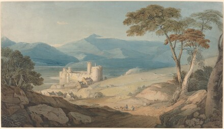 Harlech Castle and Snowdon