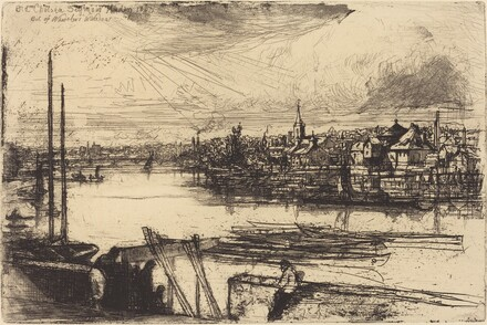 Old Chelsea, Out of Whistler's Window (Battersea Reach)