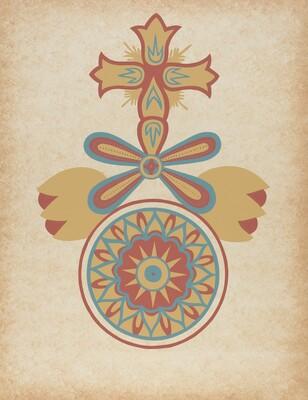 Santa Barbara Mission Doorway Design from the portfolio Decorative Art of Spanish California