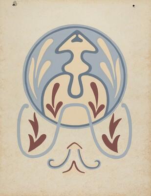 Asistencia of San Antonio de Pala Wall Design from the portfolio Decorative Art of Spanish California