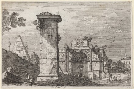 Landscape with Ruined Monuments
