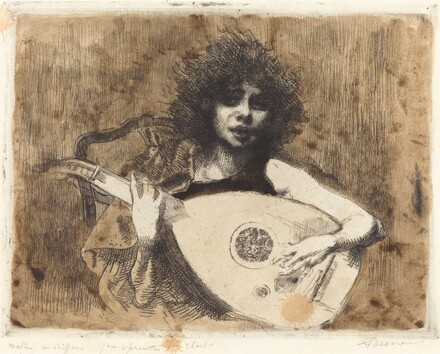 The Lute Player (La joueuse de luth)
