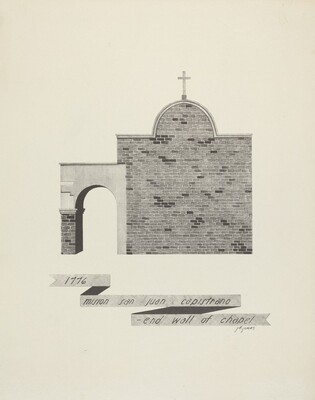 Mision San Juan Capistrano - End of Chapel Wall