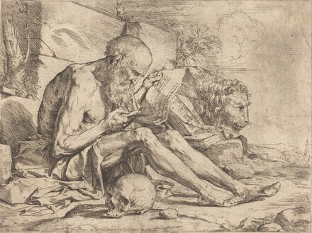 Saint Jerome Reading