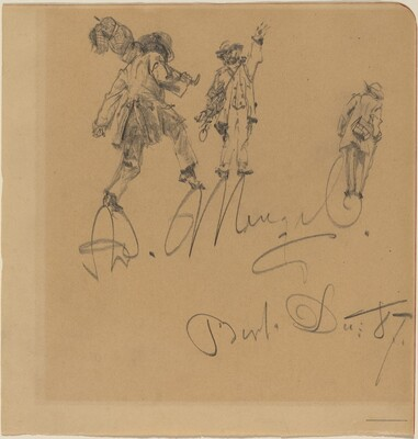 Three Hobos on the Artist's Signature