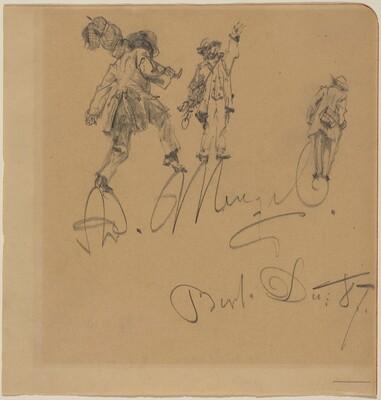 Three Hobos on the Artist's Signature