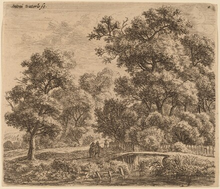 Wooded Landscape with a Bridge