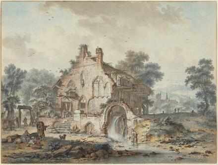 Rustic Watermill in a Gothic Ruin