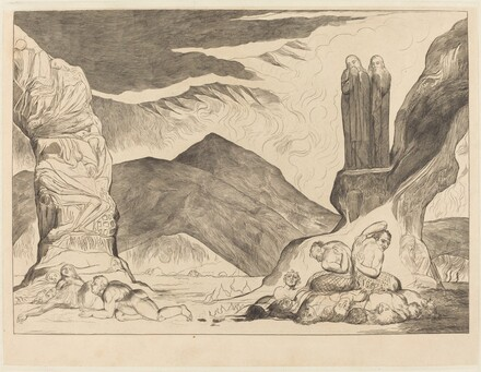 The Circle of the Falsifiers: Dante and Virgil Covering their Noses because of the st
