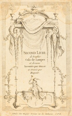 Second Livre de Trophés Culs de Lampes et Devises: Title Page