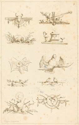 Designs for Tail-Pieces: pl. 7