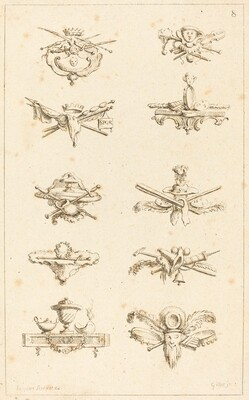 Designs for Tail-Pieces: pl. 8